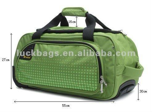 2012 new dobby sport duffel trolley travel bag