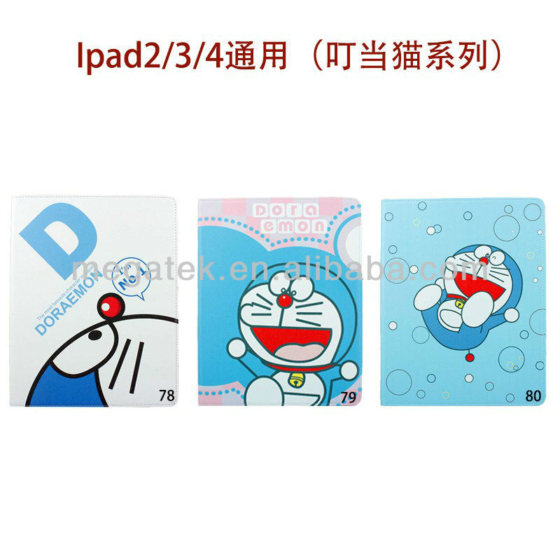 Tablet case cover cartoon pattern universal Folio leather case for ipad 2 3 4, for ipad case leather folio