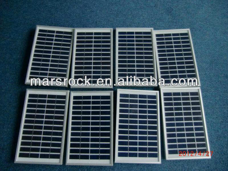 5W 12V Polycrystalline Solar Panel Module with Aluminum Alloy Frame, CE,TUV,RoHS,UL Certificates
