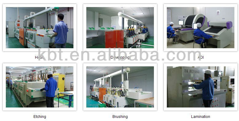 PCB manufacturer shenzhen factory.double-sided PCB used in automobile electronic machine.