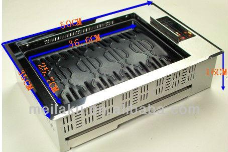 Miracook MA-2500 teppanyaki grill table,teppanyaki grill electric,1000W smokeless teppanyaki grill with CE,UL(MA-2500)
