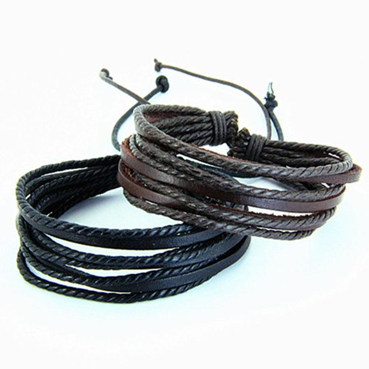 Купить Классические 7.3cm Женская Разные цвета кожи Кожаный браслет (черный, коричневый) (1 шт) .