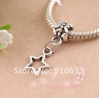 300 pcs Old Silver Plated Hollow Lovely Stars Charms 9x12 mm (0732)