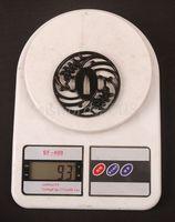 Товары для ручных поделок Japanese Sword Katana Fitting Alloy Tsuba Guard Black Nice Design HJ110