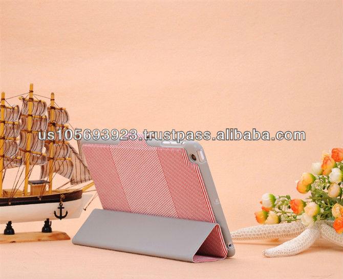 Cute PU leather smart cover case for Mini Ipad