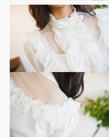 Женские блузки и Рубашки hot women shirt OL ladies blouse lace hollow temperament shirt comfortable material high quality