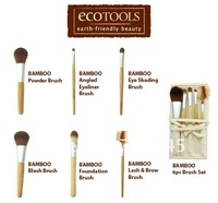 Кисти для макияжа Best selling! Natural bamboo handle environmental makeup brush set with brush package brushs1SET