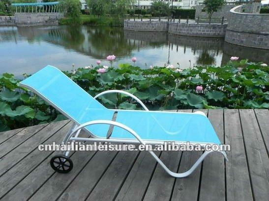Patio aluminum sun lounge chair