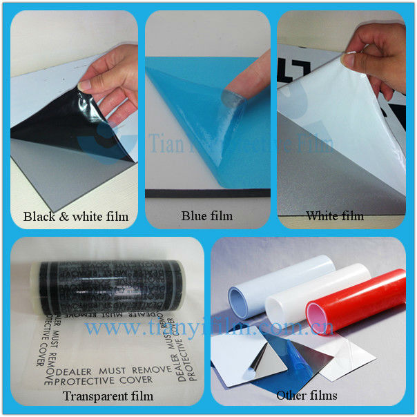 7.6cm opaque plastic film for acrylic sheet profile