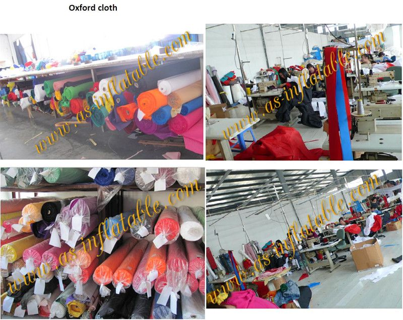 Europe standard lovely oxford cloth inflatable customized model