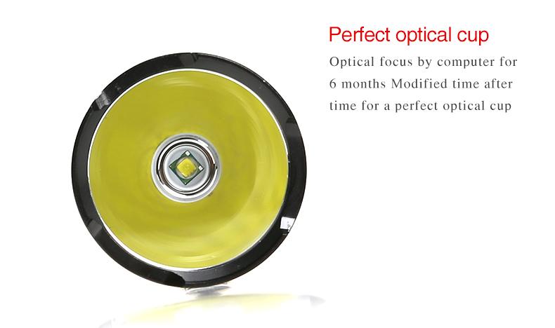 New model SupFire L6 long time 6hours use 4000mah 26650 battery led flashlight torch