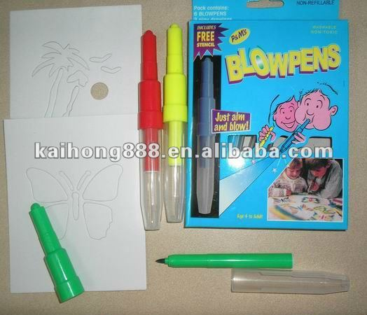 Magic Blow Pen,safe for children use