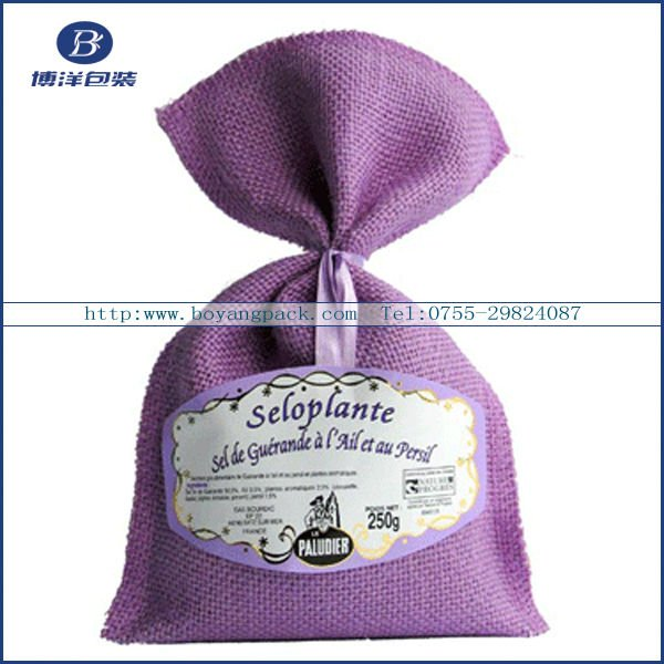 Nice Drawstring mini colorful linen lavender gift bag for packing gifts, coffee bean - Boyang Pack