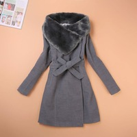 Women's Long Down Jacket, Drop Shipping Korea Design,High Quality,Wool  Leather,3 Days Leading, Cheap ,Wholesale/1 Pcs Lot-KK959