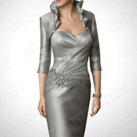 Вечернее платье Silver Noble Formal Gown Ball Party Evening Slim Backless Dress Mother Dress LF029