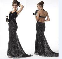 Вечернее платье Long Sleeve Patchwork Design Sexy Women's Dress Backless Mini Dress 3 Colors EK-68