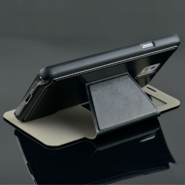C&T leather wallet for samsung galaxy note 3 s view case
