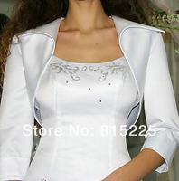 Свадебная накидка Stunning Wedding Accessories Decoration Wraps Elbow Sleeves Elgant Jacket White Satin Classy Shawl Trendy Low Price