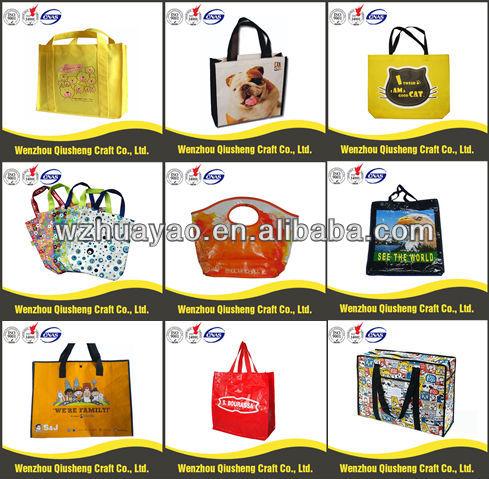 unique reusable shopping bags/printable reusable shopping bags/pp shopping bag