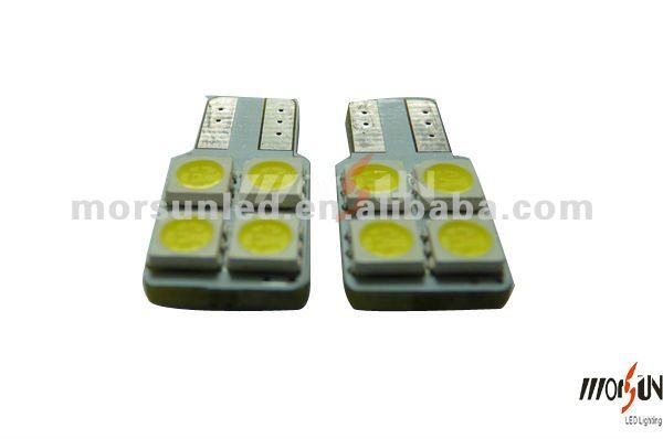 auto parts led of 12V DC 4SMD canbus Led T10 auto led bulb