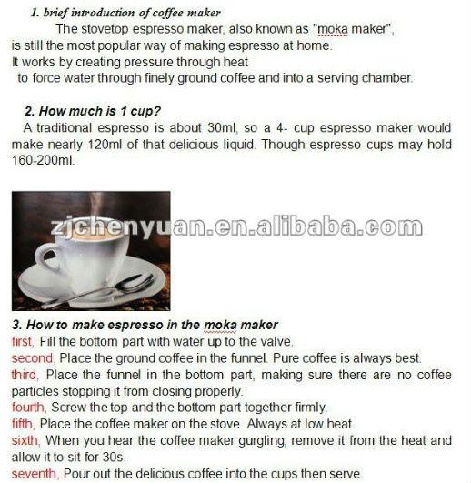 Coffee Maker How Much Coffee To Use : 2016 Aluminio Moka Cafe Expresso Cafe Moka Pot ELE-3-Conjuntos de cafe e cha-ID do produto ...