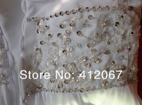 Свадебное платье 2013 factory-outlet stores wholsales white tube top embroidered ruffle fashion wedding dress Customized wedding