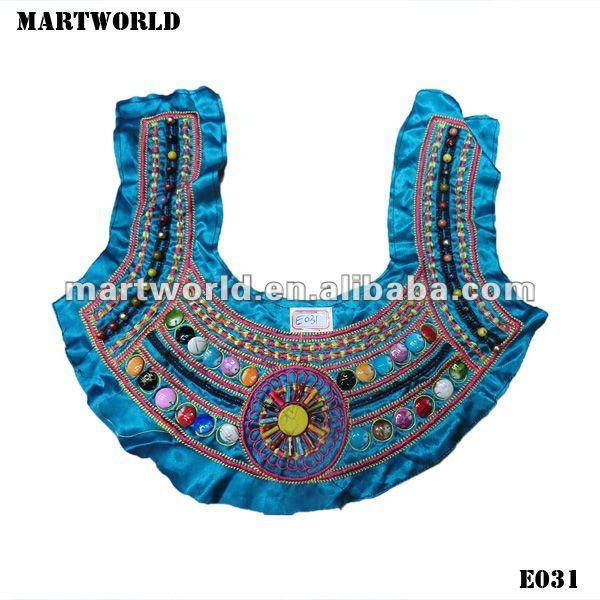 Types Of Neckline Handmake Embroidery Collar Neck Design
