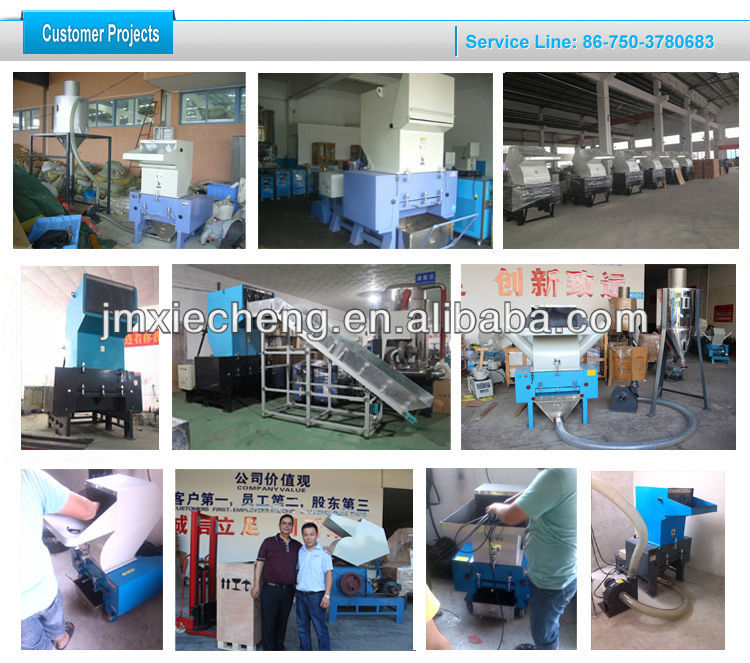 plastic film and PVC PE PIPE Crusher