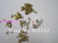 Наклейки для ногтей MS-40 Metal Gold Bow Nail Art Metal Sticker Nail Art Decoration Fancy Outlooking