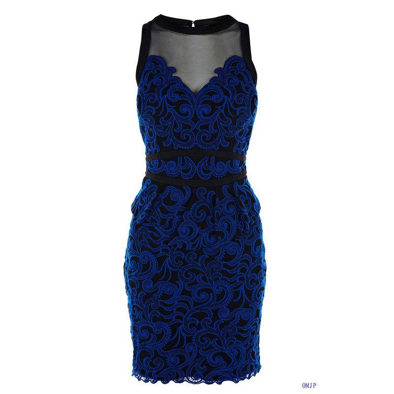 Синие платья в кружевах