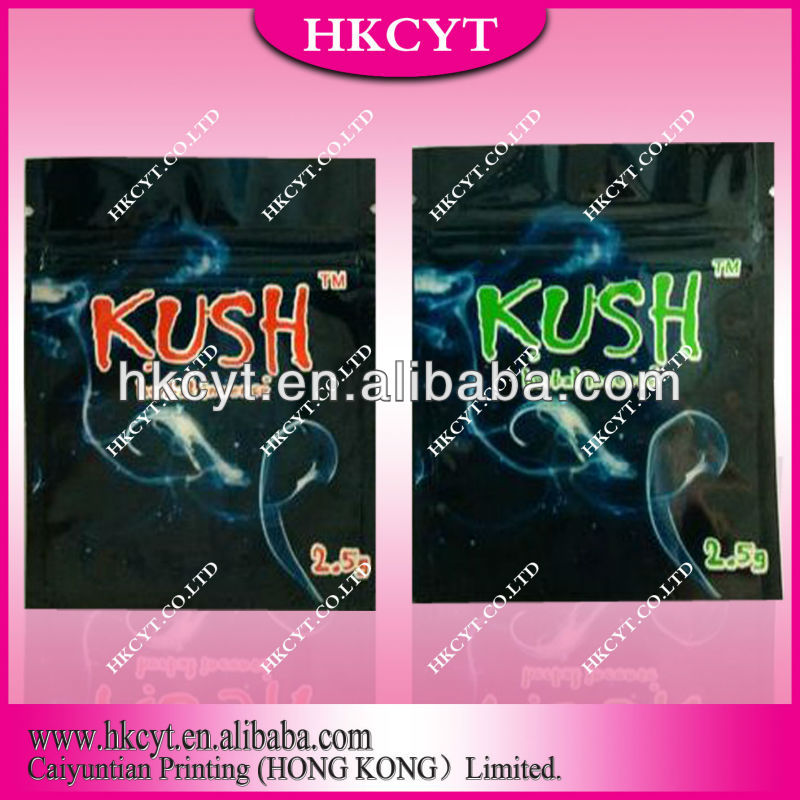 Kush herbal incense bags with ziplock