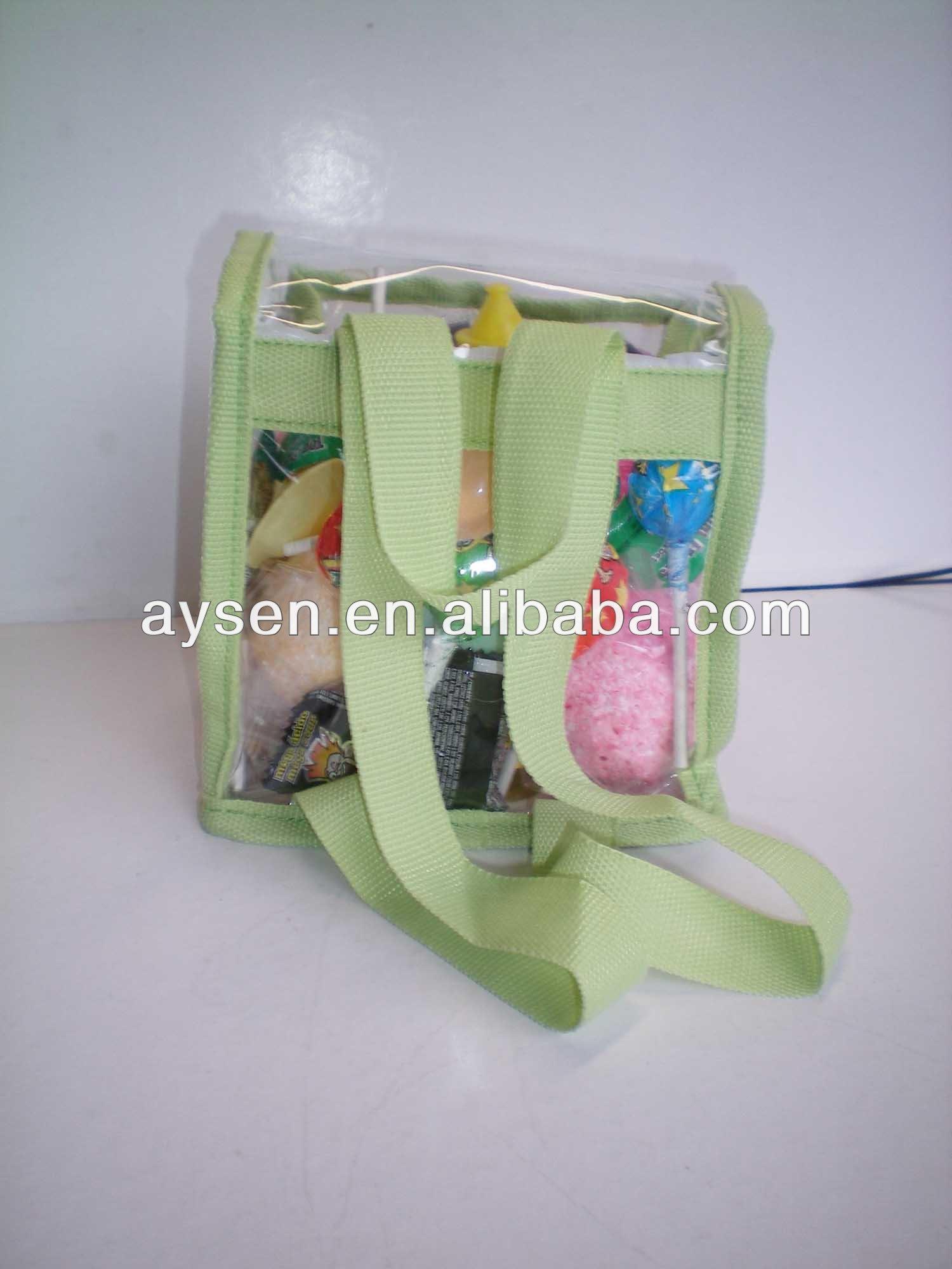 明確なポリ塩化ビニールファッショナブルなスクールバッグ