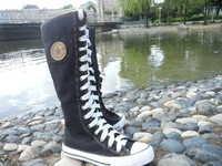 PUNK Leisure Lady Girl Shoes Canvas shoes Boot Sneaker Knee-High Free Shipping