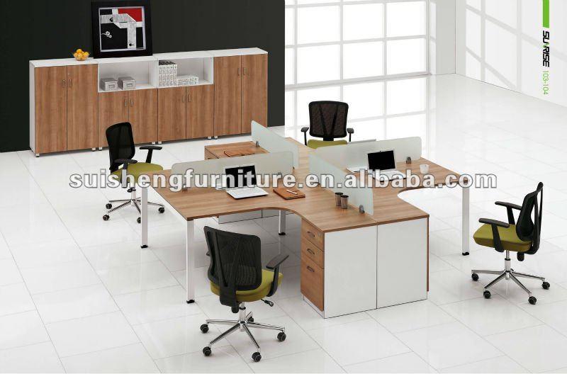 4 Si Ge De Poste De Travail Moderne Style Bureau Murales Partitions En Verre Cloison De Bureau