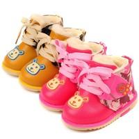 Кроксы для мальчиков Baby Wear Children's Panda Shoes Boys and Girls Cartoon Winter Shoe Kids Warm Shoes 11-13CM Искусственная кожа