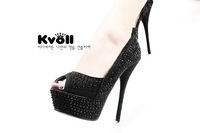 Туфли на высоком каблуке 2012 Newest design lady's high heeled shoes/pumps Kvoll shoes S627