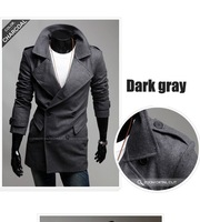 Мужской тренч 2012 new hot Cool Popular men's Autumn winter Slim jacket Fashion casual Brand coat