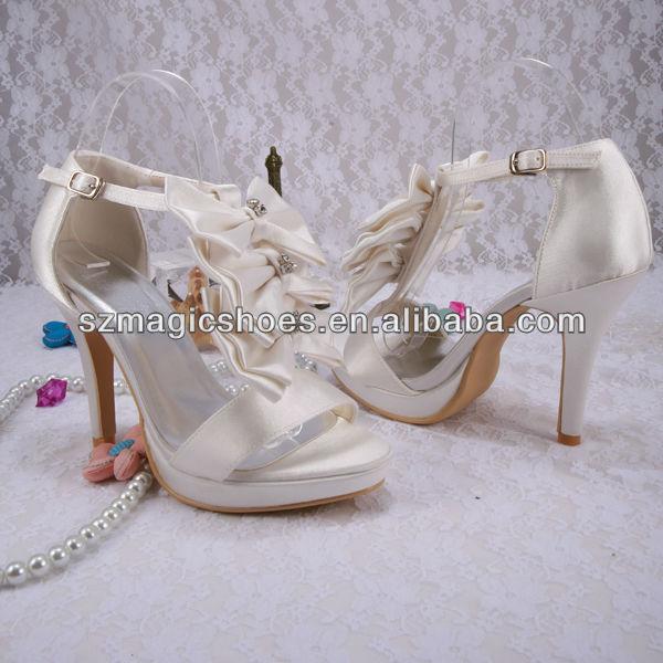 (20 Colors) Custom Handmade Buckle Strap Sandals Butterfly Wedding Bridal Shoes Princess Pumps