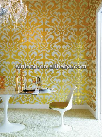 Bisazza ouro e prata mosaico para a decoração da parede