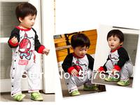 Baby boy весной & осенью паук подняться одежду с длинным рукавом Ромпер младенческой toldders комбинезон 4шт/лот b01005