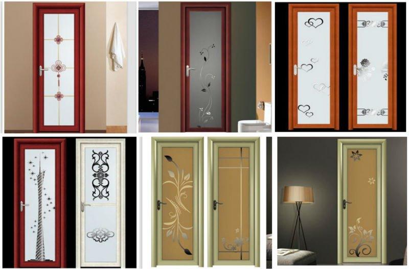 Frosted Glass Aluminium Bathroom Doors Designs Buy Bathroom Doors Aluminium Doors And Windows