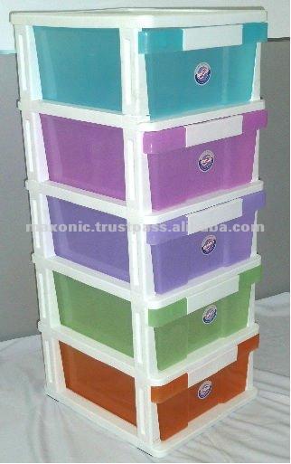 5 tier plastic drawers 2