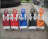 Wholesale Grocery Bag Shopping Cart Shopping Trolley plus Hand Moving Cart  two wheels