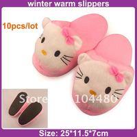 Тапочки для девочек eva injection winter children slipper, cute hello kitty children girls slippers, child indoor slipper, warm kids plush slipper Хлопковая ткань