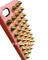 Free shipping DIY Stud Bullet punk Fashion style Case Cover For iPhone 5,5G studded case,10 color+retail Package,10pcs/lot