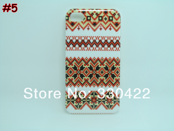 [IP4-49] Woven Linen Finish  Design Aztec Tribal Tribe Pattern Hard Plastic Case for Iphone 4 4G 4S (6).jpg