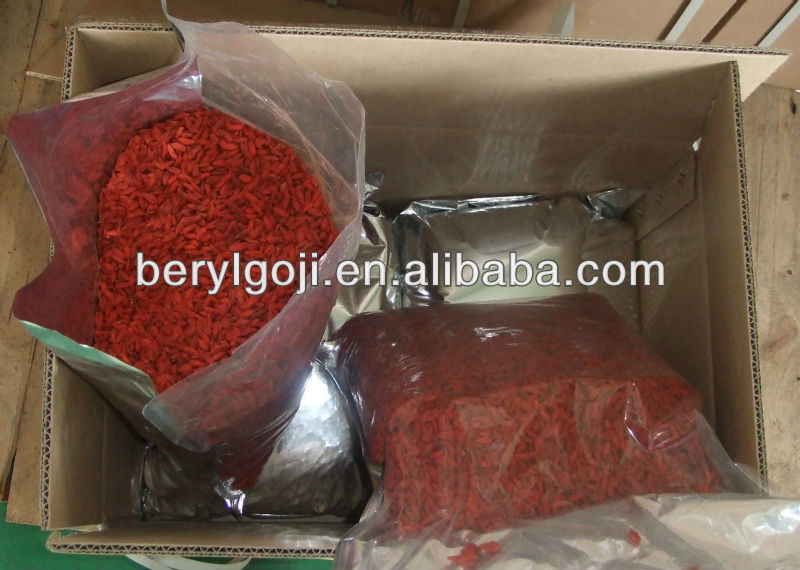 Ningxia Goji berry in different size