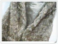 Женский жилет Hot selling 2013 new Hot Sale Women's Korean Style Hair fur Vest, faux fur long waistcoat khaki Y1073