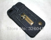 Чехол для для мобильных телефонов 1pcs retail, Fashion Cowboy Jeans Denim Hard Back Case Cover for iPhone 4 4s