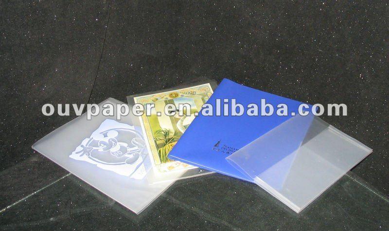 pretty design plastic document folder L-shape file pocket